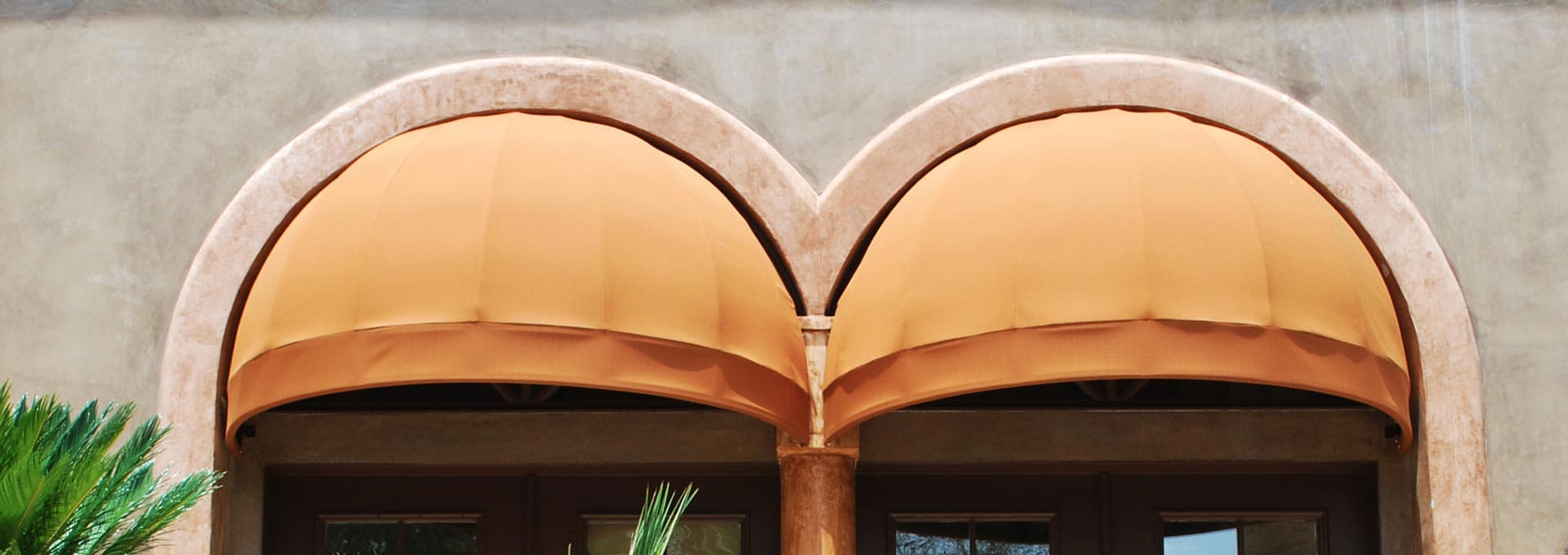 Stationary Fabric Dome Awnings and Dome Canopies